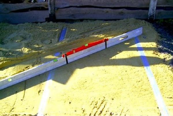Подсыпка песком