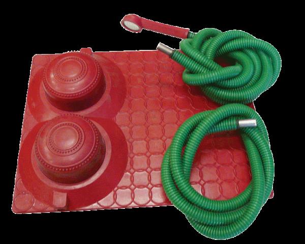 Душ-топтун с резиновым ковриком