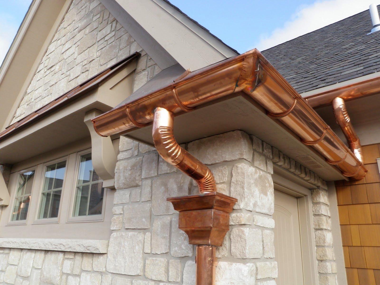 Водосток для крыши своими руками