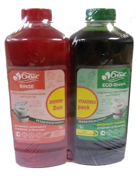 Жидкости для биотуалета БИОwc Eco Green и БИОwc Rinse