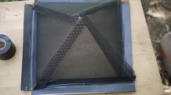 создание дна-пирамиды из сетки