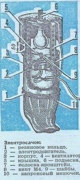 Схема электросачка