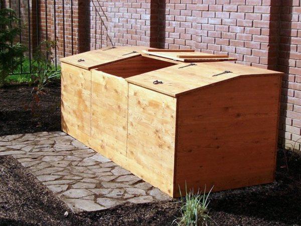 Ящик с крышкой для компоста