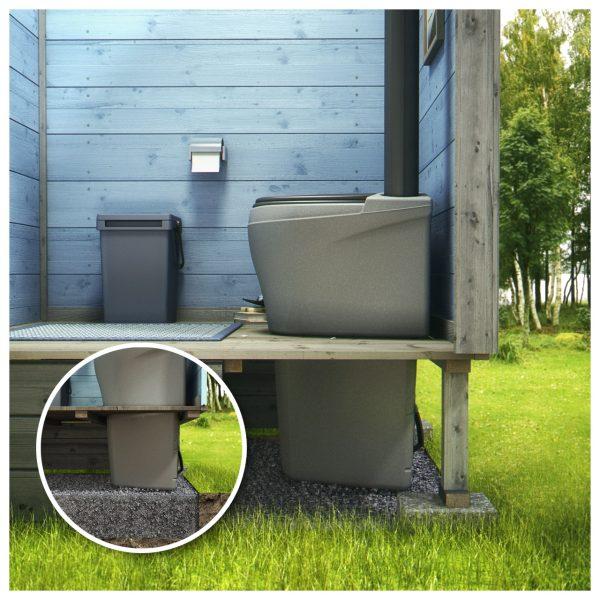 Торфяной туалет с нижним баком