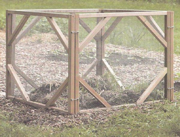 Ящик для компоста из сетки