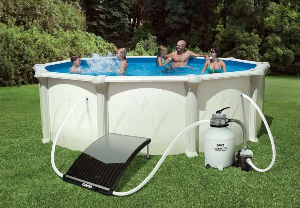 Как нагреть воду в бассейне